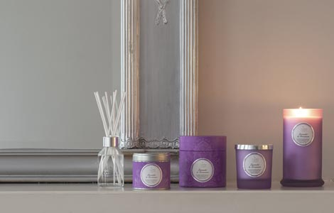 Lavender-and-Geranium-Candles