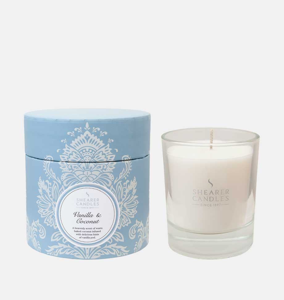 Vanilla and Coconut Scented Candles