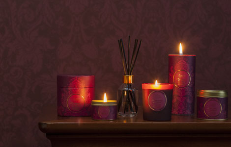 Range of candles and reed diffuser
