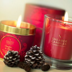 cranberry and ginger candles