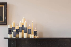 beeswax and paraffin candles