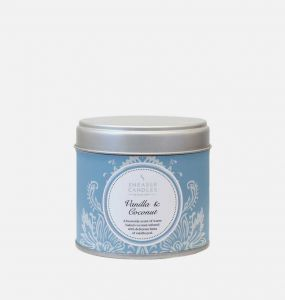Vanilla and Coconut Large Candle Tin