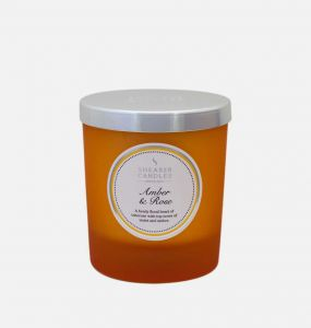 Amber and Rose Jar Candle