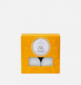 Amber and Rose Tealights x 8