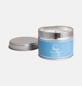 Vanilla and Coconut Small Candle Tin