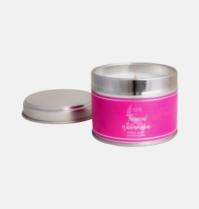 Tropical Watermelon Small Tin Candle