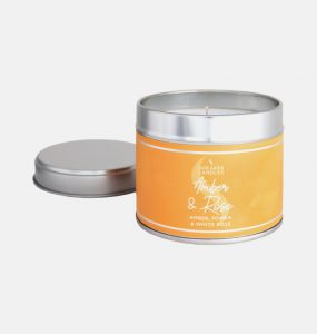Amber and Rose Large Candle Tin