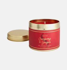 Cranberry and Ginger Large Tin Candle