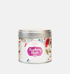 Raspberry Ripple Large Tin Candle