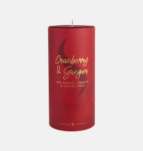 Cranberry and Ginger Pillar Candle