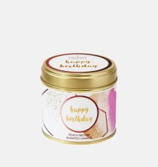 Happy Birthday Large Scented Tin Candle