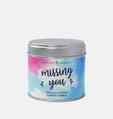 Missing You Scented Tin Candle