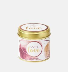 With Love Large Scented Tin Candle
