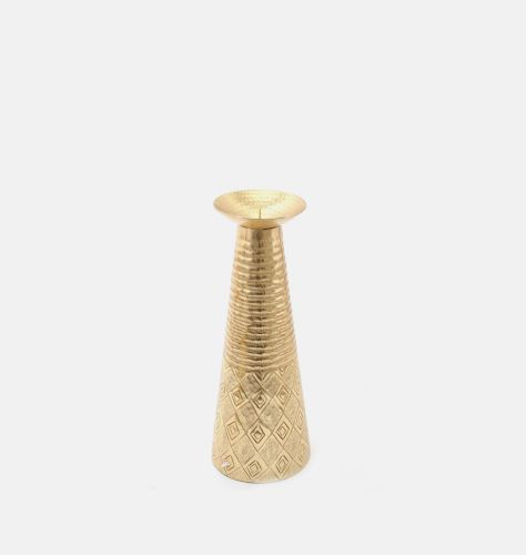 Gold Pillar Candle Holder Small
