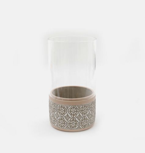 Embossed Hurricane Candle Holder