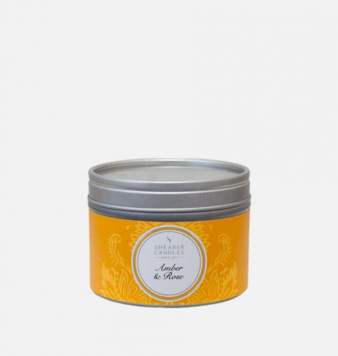 Amber and Rose Small Candle Tin
